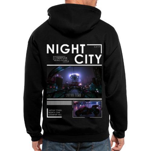 Night City Japan Town - Men's Zip Hoodie