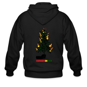 Cannabis On Fire T-shirts - Men's Zip Hoodie