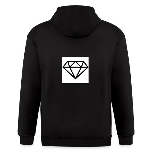 diamond outline 318 36534 - Men's Zip Hoodie