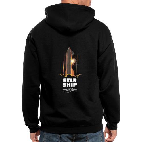 Star Ship Mars - Dark - With Logo - Men's Zip Hoodie