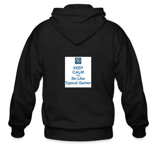 keep calm and be like typical gamer - Men's Zip Hoodie