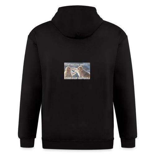 funny animal memes shirt - Men's Zip Hoodie