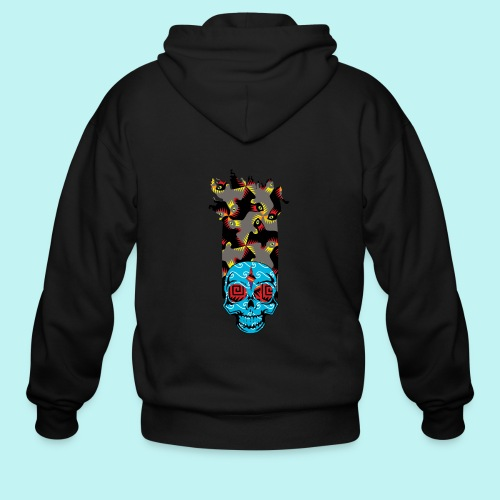 90s KID SKULLY - Men's Zip Hoodie