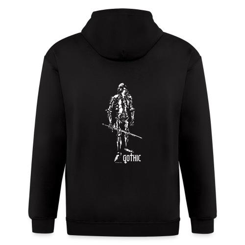 Gothic Knight Men's Standard Black T-shirt - Men's Zip Hoodie