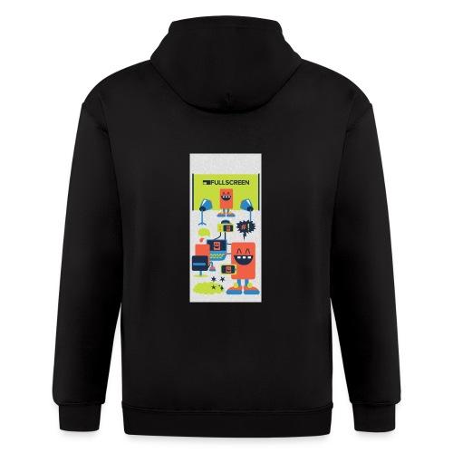iphone5screenbots - Men's Zip Hoodie