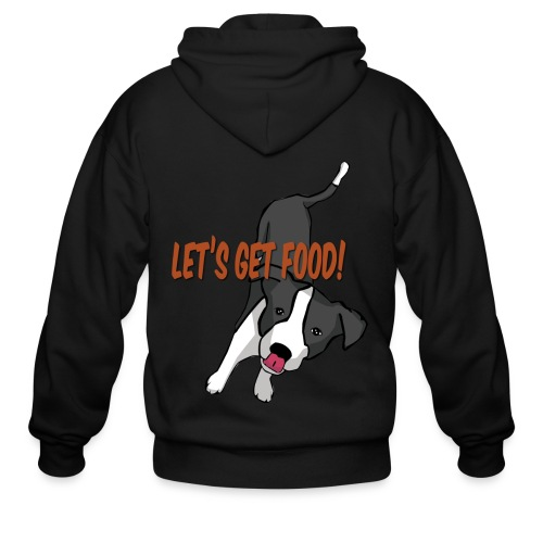 Foodie Dog Border Collie - Men's Zip Hoodie