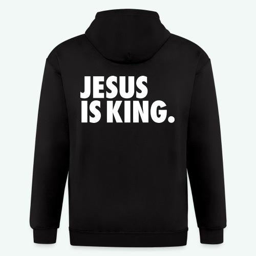 JESUS IS KING - Men's Zip Hoodie