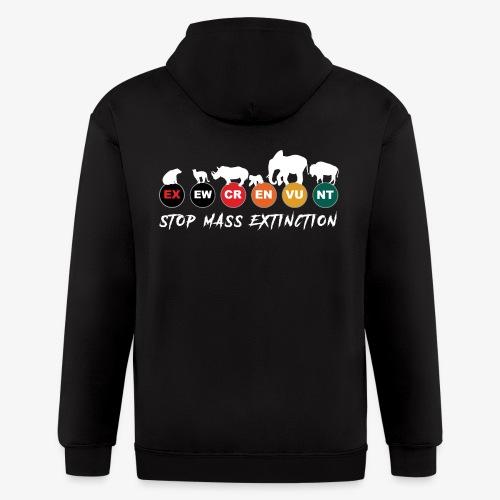 Stop mass extinction ! - Men's Zip Hoodie