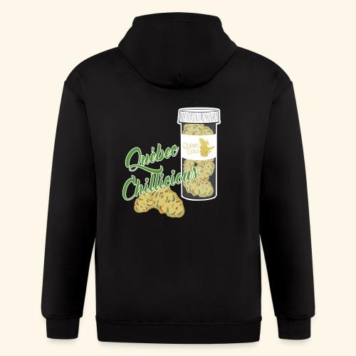 Québec Gold Cannabis tshirt Québec Chillicious - Men's Zip Hoodie