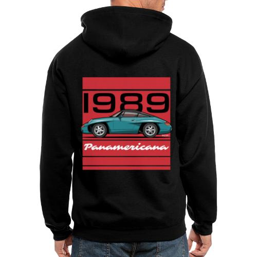 1989 P0r5che Panamericana Concept Car - Men's Zip Hoodie
