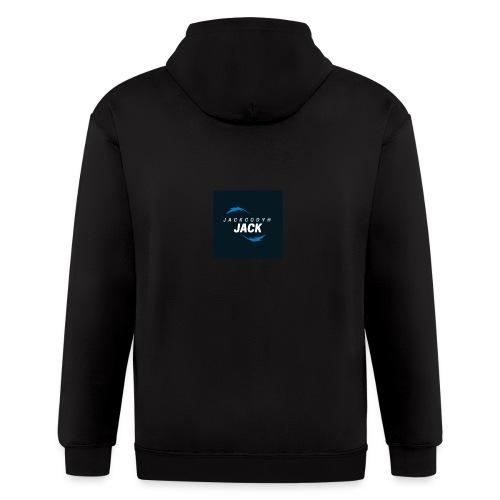 JackCodyH blue lightning bolt - Men's Zip Hoodie