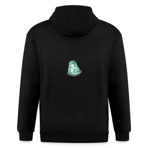 Summrrz Logo Transparent - Men's Zip Hoodie