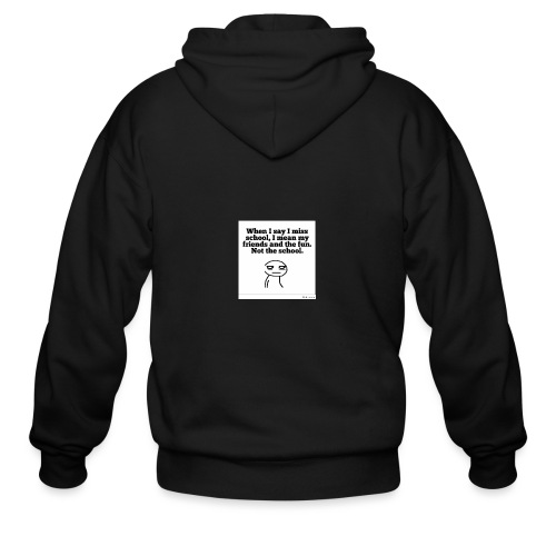 Funny school quote jumper - Men's Zip Hoodie