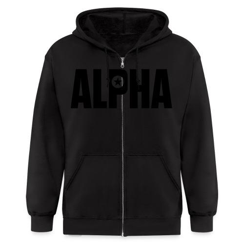 ALPHA - Men's Zip Hoodie