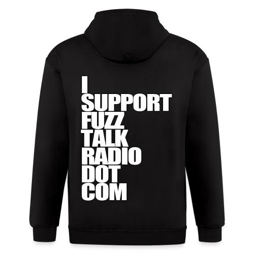 I Support FuzzTalkRadio - Men's Zip Hoodie