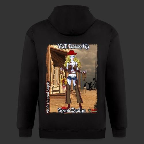 Zombie Cowgirl Cassidy Full Background - Men's Zip Hoodie