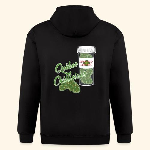 Jean-Guy Leblanc Cannabis Québec Chillicious - Men's Zip Hoodie