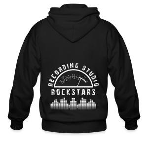 Recording Studio Rockstars - White Logo - Men's Zip Hoodie