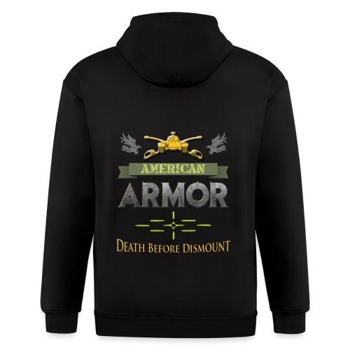 Armor: Death Before Dismount - Men's Zip Hoodie