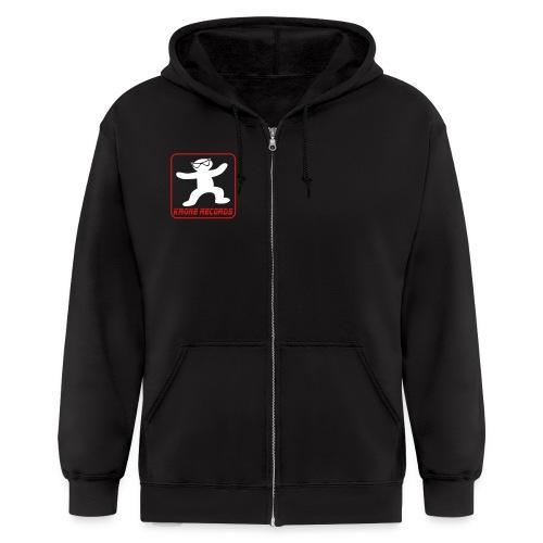 logo krone records quadrato tutto trasp - Men's Zip Hoodie