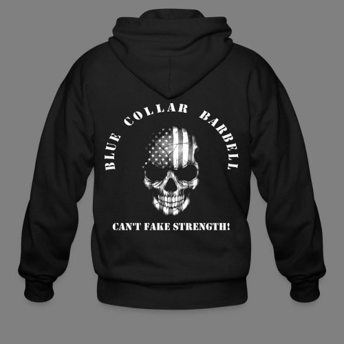 new shirt back2 - Men's Zip Hoodie