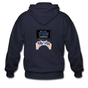 Blue Thumbs Gaming: Gamepad Logo - Men's Zip Hoodie