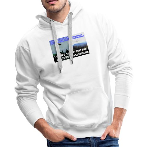 tshirt i want to believe with back Crew Logo - Men's Premium Hoodie