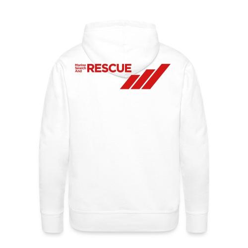 MSAR Red Logo with Stripes - Men's Premium Hoodie