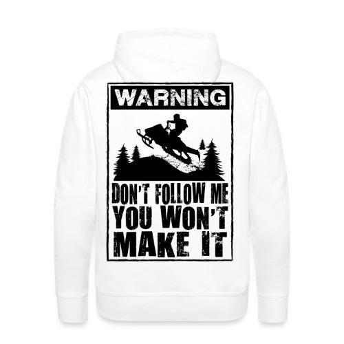 Snowmobiling Sign - Men's Premium Hoodie