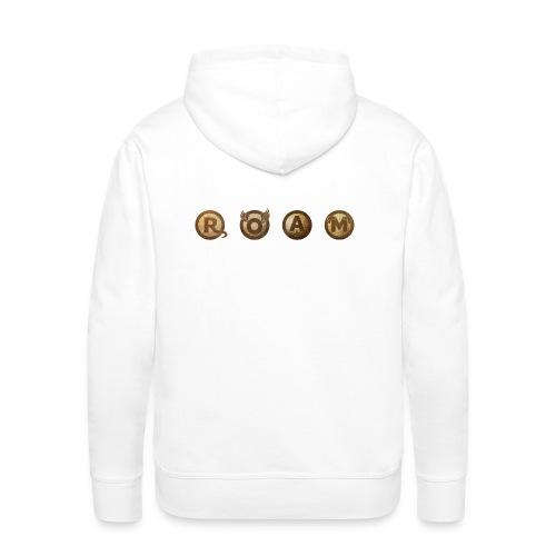 ROAM letters sepia - Men's Premium Hoodie