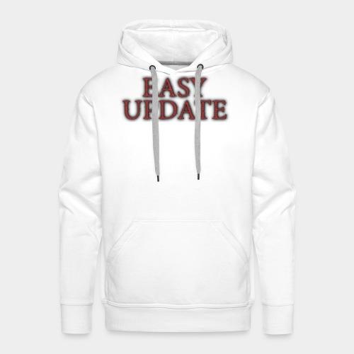 Easy Update Logo Red - Men's Premium Hoodie