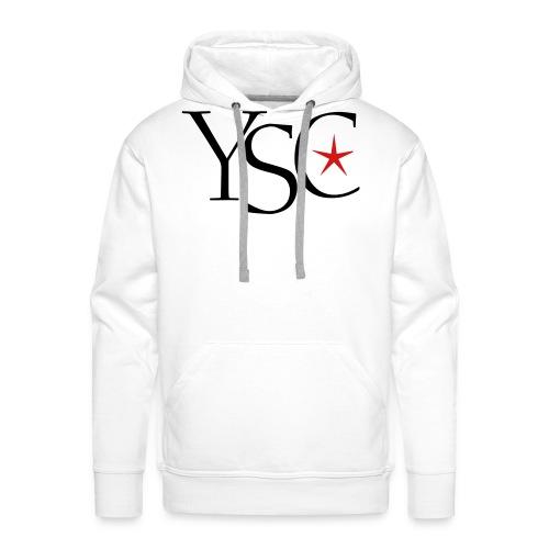 ysc initials red star - Men's Premium Hoodie