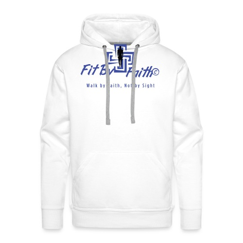 FitbyFaith back png - Men's Premium Hoodie