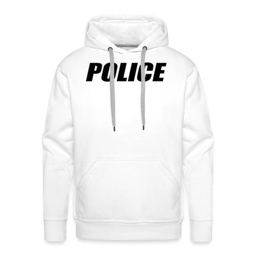 Police Black - Men's Premium Hoodie