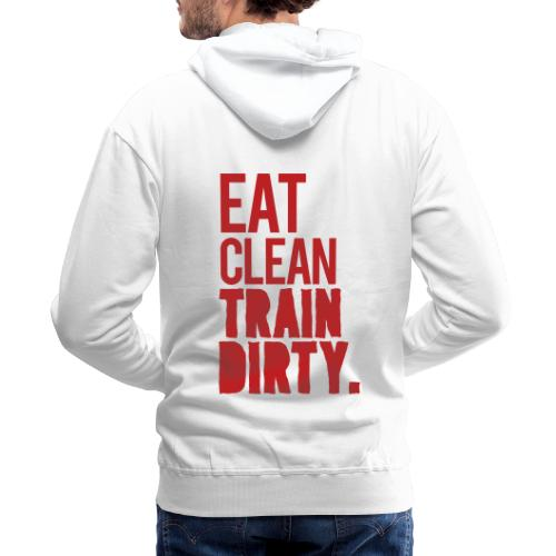 Eat Clean Gym Motivation - Men's Premium Hoodie