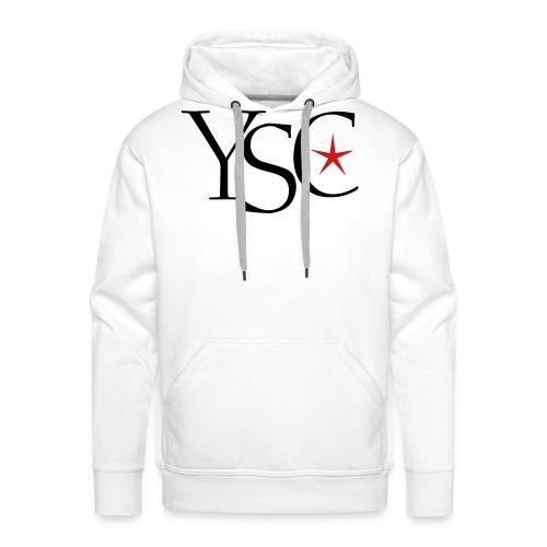 ysc initials red star - Men's Premium Hoodie