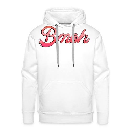 Mens Baseball T Pink Bmoh logo - Men's Premium Hoodie