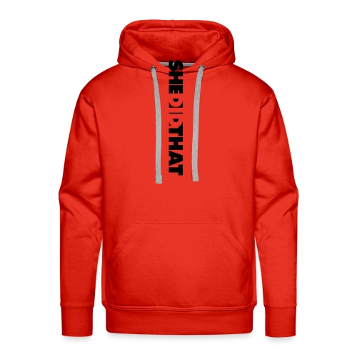 She Did That Large Design - Men's Premium Hoodie