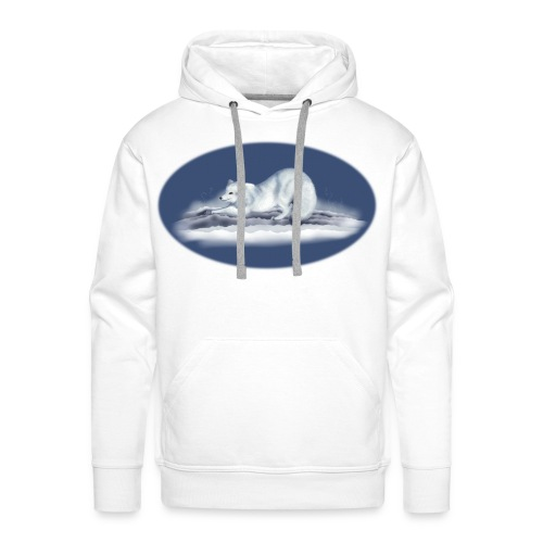 Arctic Fox on snow - Men's Premium Hoodie