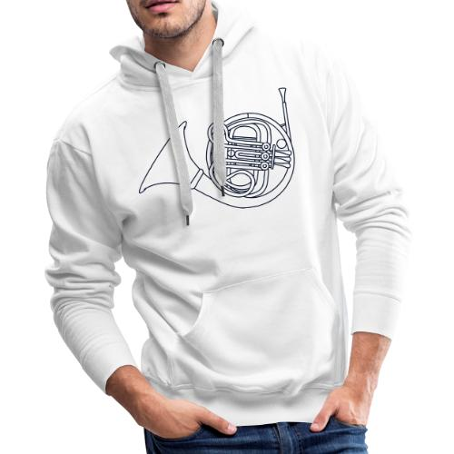 French horn brass - Men's Premium Hoodie