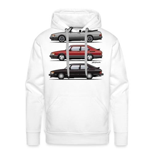 Saab 900 Turbo Trio - Men's Premium Hoodie