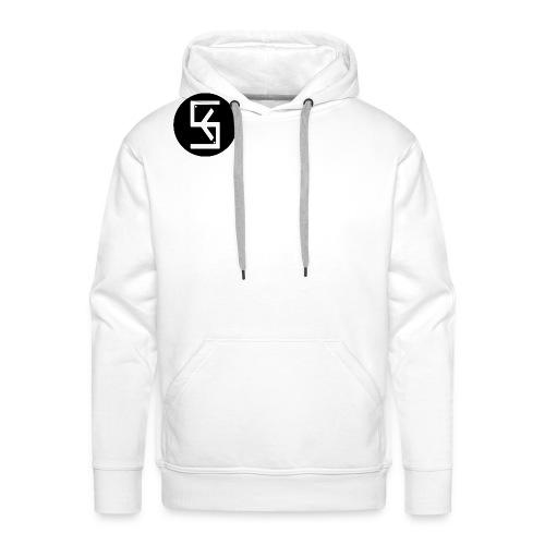 BlackWhite Soft kore Logo - Men's Premium Hoodie