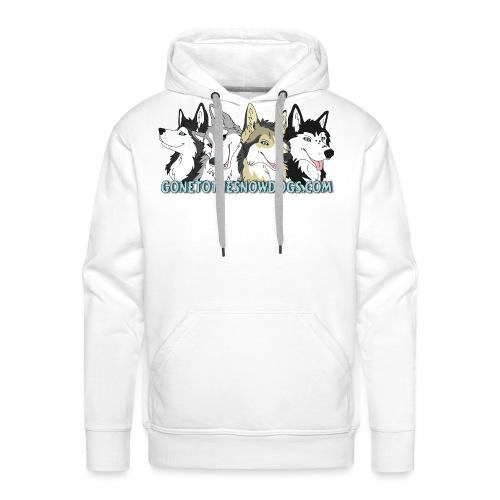 Siberian Husky Snow Dogs - Men's Premium Hoodie