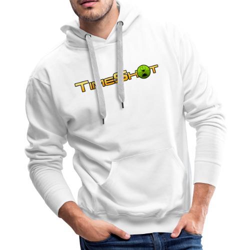 TimeShot Logo Text - Men's Premium Hoodie