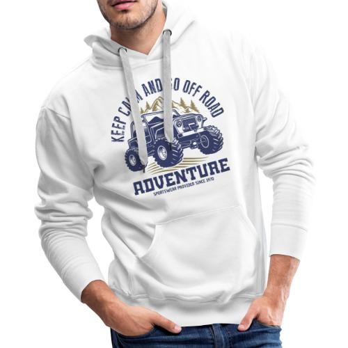 off road adventure nature - Men's Premium Hoodie