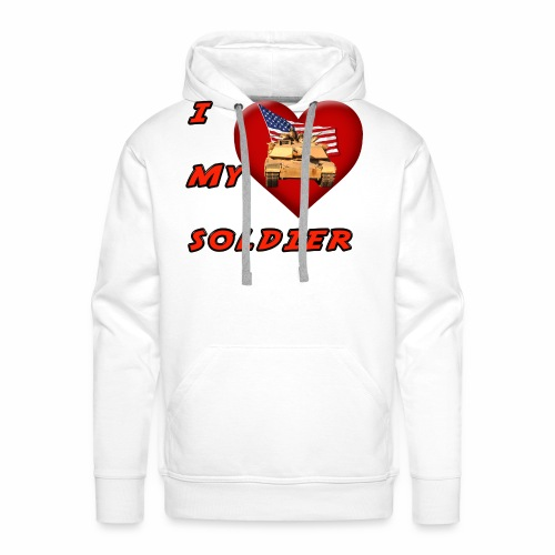 I Heart my Soldier - Men's Premium Hoodie