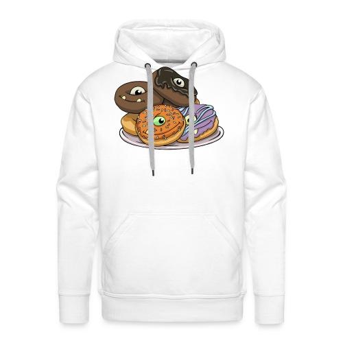 Monster Donuts Mug - Men's Premium Hoodie