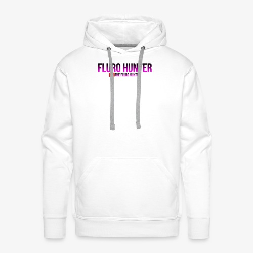 The Fluro Hunter Black And Purple Gradient - Men's Premium Hoodie