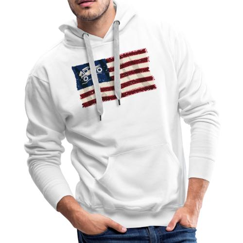 American Off Road 4x4 Overland Flag - Men's Premium Hoodie