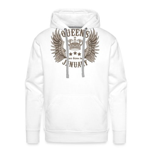 Queens are born in January - Men's Premium Hoodie